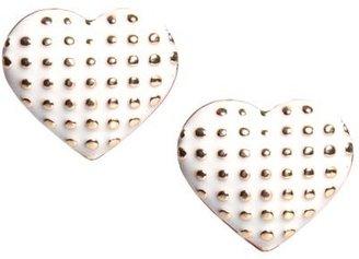 Boohoo Latoya Studded Heart Earrings