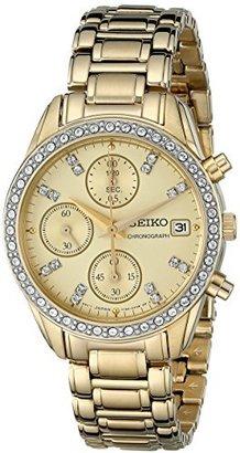 Seiko Women's SNDX76 Chronograph Crystal Japanese Quartz Watch $145 thestylecure.com