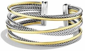 David Yurman Crossover Four-Row Cuff with Gold