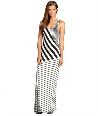 Romeo & Juliet Couture white and black striped jersey maxi dress