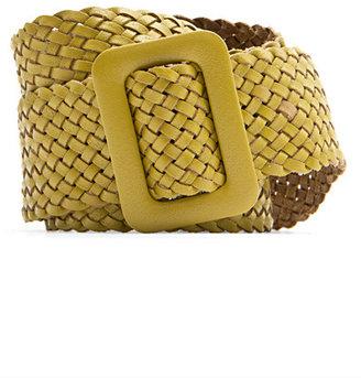 MANGO Leather Braided Belt