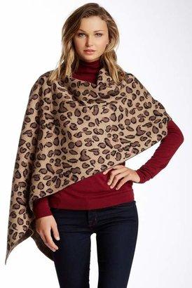 Portolano Animal Print Wool & Cashmere Blend Scarf