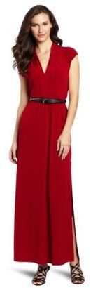 Kenneth Cole Women's Knit Maxi Dress With Belt