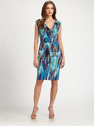 Josie Natori Printed Jersey Dress