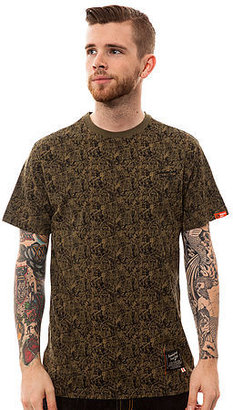 Camo Standard and Grind The Plant Tee in Olive