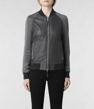 AllSaints Seine Leather Bomber Jacket