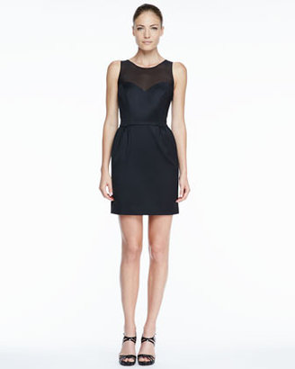 Erin Fetherston Erin by Bow-Back Mesh-Neck Cocktail Dress