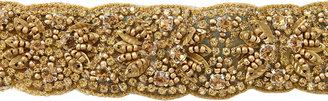 Deepa Gurnani Scallop-Edge Beaded Headband, Golden