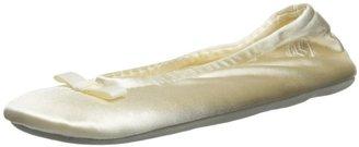Isotoner Women's Signature Satin Ballerina Slipper