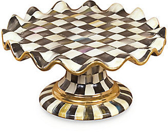 Mackenzie Childs MacKenzie-Childs Courtly Check Ceramic Cake Stand