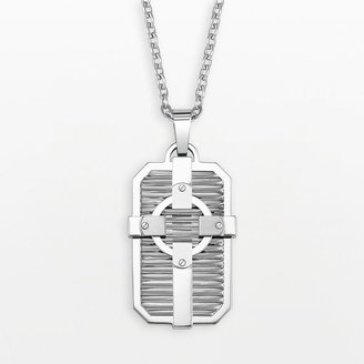 Triton Axl by stainless steel cross dog tag - men