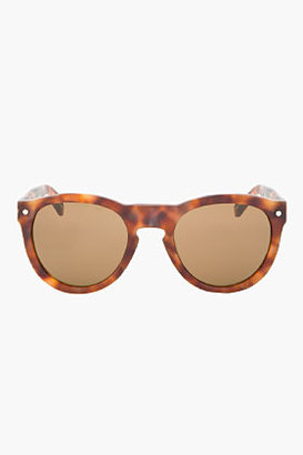 Rag and Bone RAG & BONE Matte Brown Tortoiseshell Keaton Sunglasses