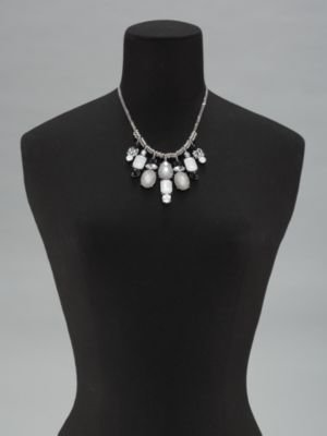 New York & Co. Double Strand Short Bib Necklace