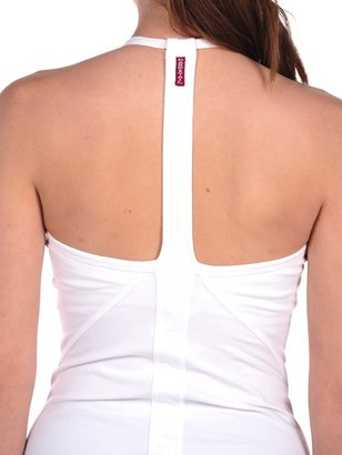 Hard Tail Sport Seamed Halter with Built