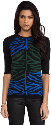 Torn By Ronny Kobo Madison Zebra Sweater