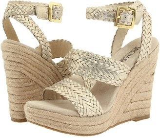 MICHAEL Michael Kors Juniper Espadrille (White Gold Metallic) - Footwear