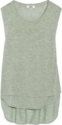 LnA Cornilla cutout marled jersey top