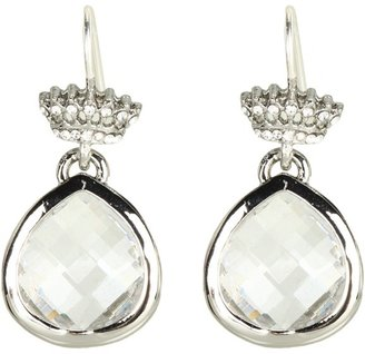 Juicy Couture Pretty Little Gems Faceted Teardrop Earring (Crystal) - Jewelry