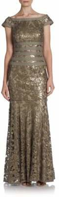 Sequined Lace Gown $498 thestylecure.com