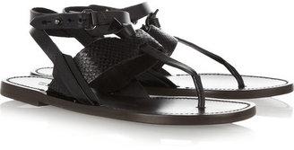 Rag and Bone Rag & bone Sigrid textured-leather sandals