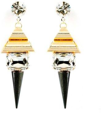 Noir Metal Highlight Earrings