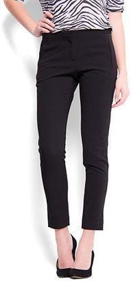 MANGO Slim-leg cropped trousers