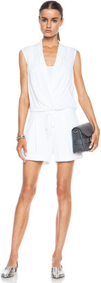Helmut Lang Wrap Modal-Blend Jumpsuit in Optic White