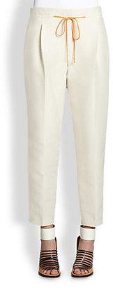 3.1 Phillip Lim Cropped Silk & Cotton Polka Dot Pants