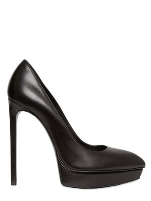 Saint Laurent 130mm Janis Pointy Leather Pumps