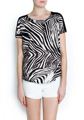 MANGO Outlet Zebra Print Top