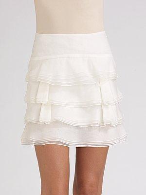 RED Valentino Silk Organza Mini Skirt