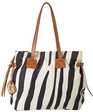 Dooney & Bourke Nylon Print Victoria Bag (Zebra) - Bags and Luggage