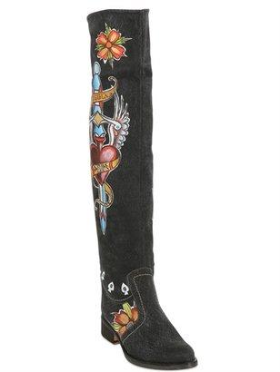 EL VAQUERO 40mm Painted Tattoo Cotton Boots