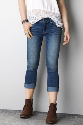 American Eagle Outfitters Medium Wash Artist Pants SlacksCrop Jeans, Womens 00 By