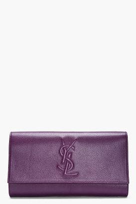 Yves Saint Laurent Purple Belle de Jour Clutch