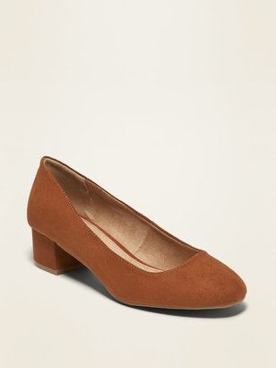 Old Navy Faux-Suede Mid-Heel Pumps for Women