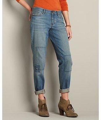 Eddie Bauer Boyfriend Patched Jeans