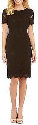 Preston & York Felicia Short Sleeve Lace Sheath Dress $99 thestylecure.com