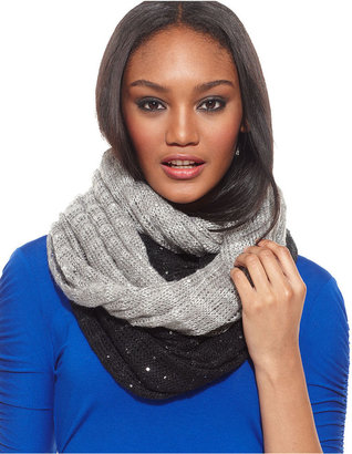 David & Young Scarf, 2 for 1 Sequin Knit Infinity Scarves