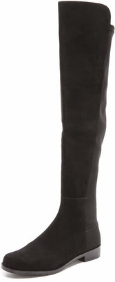 Stuart Weitzman 5050 Stretch Suede Boots $655 thestylecure.com