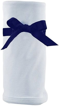 Princess Linens Cotton Knit Blanket - Blue