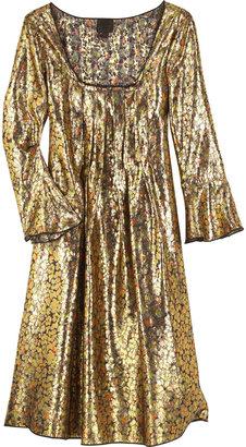 Anna Sui Metallic brocade dress