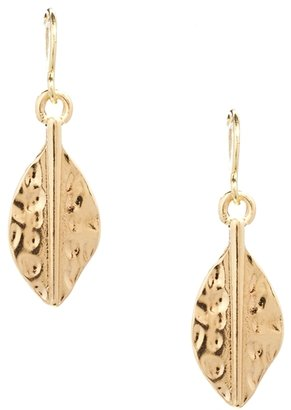 Asos Mini Leaf Drop Earrings - Gold