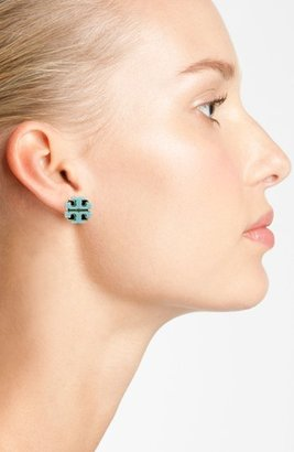 Tory Burch Large Logo Stud Earrings