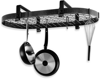 Enclume Premier Collection Low Ceiling Oval Pot Rack with Grid