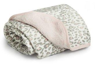 Carter's leopard velboa sherpa blanket