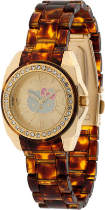 Hello Kitty Tortoise Print Watch $45 thestylecure.com