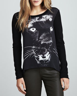 Torn By Ronny Kobo Jonsy Panther-Graphic Top