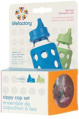 Green Baby Lifefactory Sippy Cap Set - Ocean & Spring Green - 2 ct