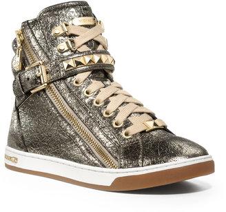 Michael Kors Metallic Glam Studded High-Top Sneaker